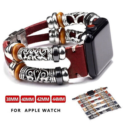 For Apple Watch Series 5 4 3 2 1 Retro Leather Band Strap iWatch 38/42/40/44mm