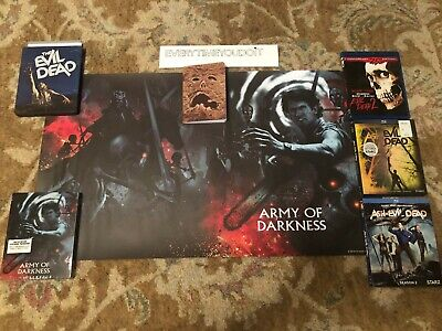 Evil Dead Army Of Darkness Lot Collection Blu-rays Lithograph Scream Factory