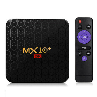 MX10 Plus Smart TV Box Android 9.0 Allwinner H6 UHD 4K Media Player 6K O4Q3