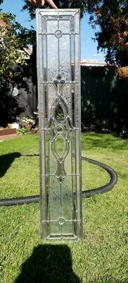 Used lead light glass window panel. garden feature , door. DYI,   pu 3013