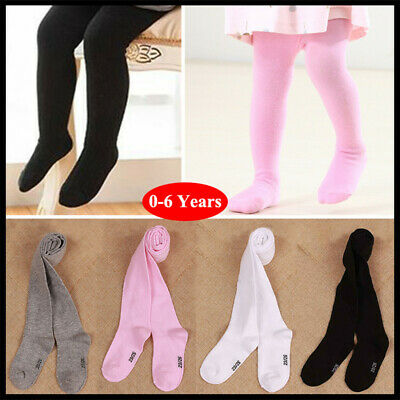 Toddler Baby Girls Knitted Cotton Warm Tights Stocking Long Socks Pantyhose 0-6Y