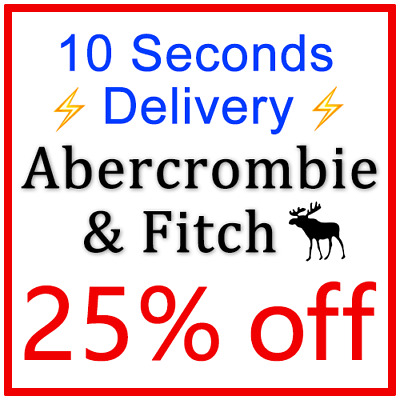 ***25% OFF*** ABERCROMBIE Coupon Promo Discount Code === 10 Seconds Delivery ===