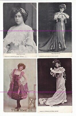 AUSTRALIAN   ACTRESSES  x7   c.1900s Talma & Co.  7 postcards  Tittell Brune etc