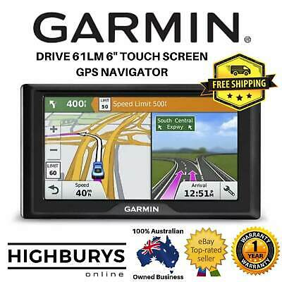 "New Garmin Drive 61LM 6"" GPS Navigator Touch Screen Full Safety Driver Alerts"