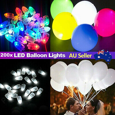 50x LED Balloon Lights Paper Lantern Light Glow in dark Christmas Party Wedding