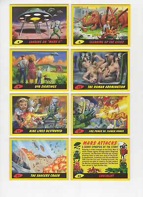 2017 TOPPS MARS ATTACKS REVENGE Yellow Parallel Cards Base & Pencil Pick 1 Card