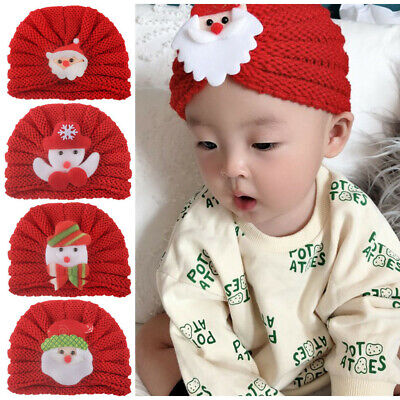 Toddler Kids Baby Boy Girl Warm Christmas Cartoon Knitted Crochet Hat Beanie Cap
