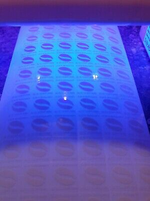 Mcdonalds Coffee Stickers ULTRAVIOLET Stickers 660 110 cups  **EXPIRY 31.12.20**