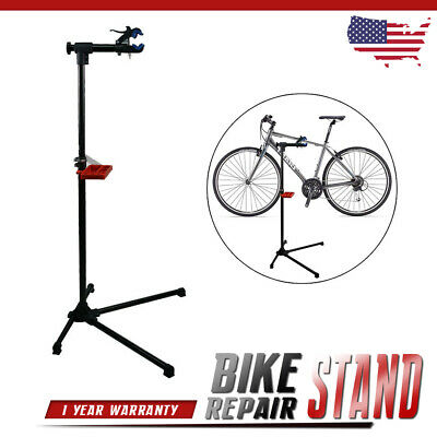 """Bike Repair Stand Extensible 42"""" To 74"""" W/Telescopic Arm Bicycle Cycle Rack"""