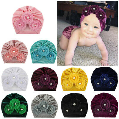 Infant Baby Pleuche Hat Hijab Indian Turban Knot Headbands Head Wrap Winter Cap