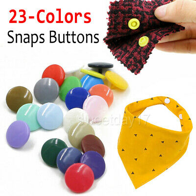 230 Sets Snap Kits Size T5 Snaps Fastener Craft Buttons Press Stud Set NEW