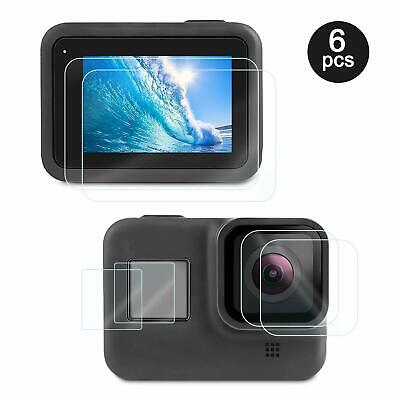 6Pcs Tempered Glass Screen Protector Sport Camera Film For Gopro Hero 8 black