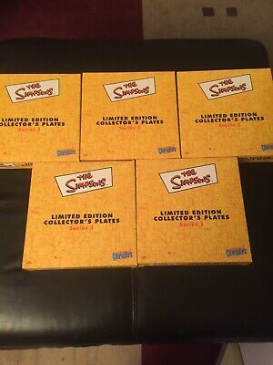 Simpsons Collector 5 Plates Pick Up 3109