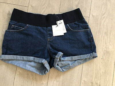 Asos Maternity Under Bump Band Denim Shorts Uk 12 Bnwt