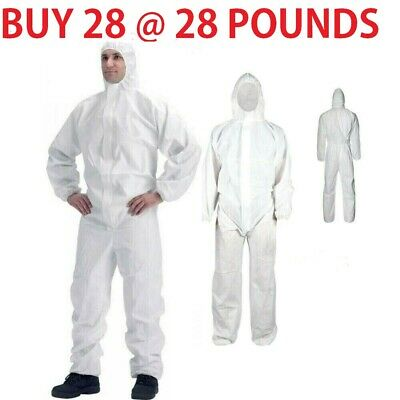 28 XL NEW Disposable Coveralls Overalls Boilersuit  Painters Protective Suit