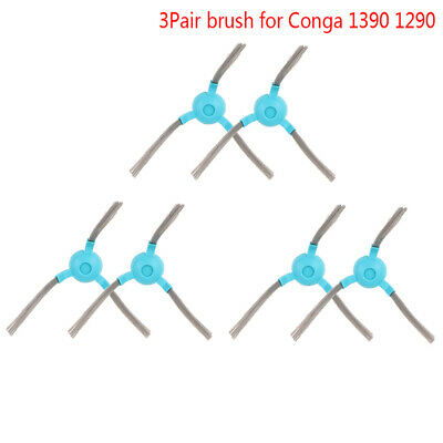 6x Vacuum Cleaner Car Side Brush for Conga 1390 1290 Home Cleaning Tool YFMA
