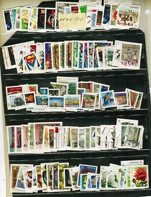 CANADA  RECENT  STAMPS -- GROUP of near 100 off paper see scan  used LOT 304-3