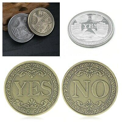 Yes No, Challenge Decision Coin With Capsule Case Gift UK Stock Free P&P