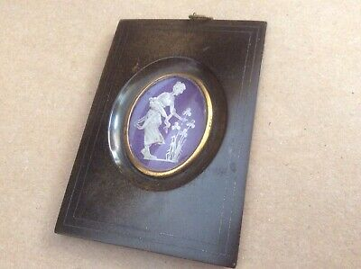 19th Century Miniature Picture, Horn And Silver Frame