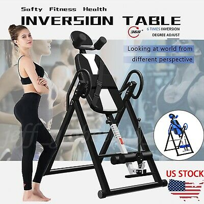 Foldable New Premium Gravity Inversion Table Back Therapy Fitness ReflexologyNEW