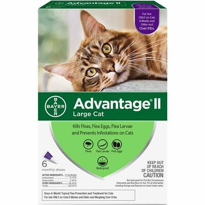 Bayer Advantage II Flea Prevention for Cats over 9 lbs, 6 Doses