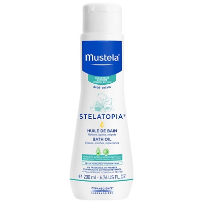Mustela Stelatopia Bath Oil, Baby, for Eczema-Prone Skin, with Natural Avocado,