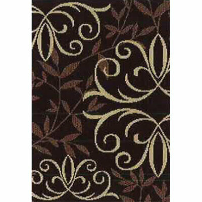 New Fireplace Orian Weave Hearth Rug Flame Resistant Iron Fleur Chocolate 31x45
