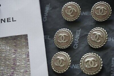 💞💔💝💓💕❣💖💗❤💋💚CHANEL BUTTONS 6  pieces  SIZE 17MM 0,7 INCH LOGO CC METAL