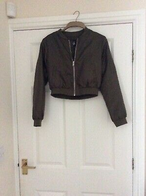 Newlook 915 Teens girl olive green bomber jacket size age 12-13 years/152-158 cm