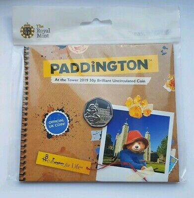 Royal Mint UK 2019 Paddington Bear at the Tower BUNC 50p Fifty Pence Coin Pack