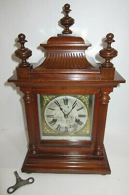 Antique Junghans Bracket Clock 8-day, Time/Strike, Key-wind