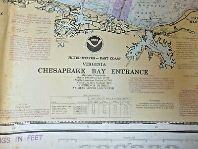 NOAA Chart - # 12221 - Chesapeake Bay Entrance - Virginia