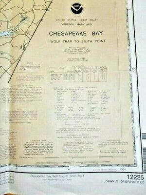 NOAA Chart - # 12225 - Chesapeake Bay - Wolf Trap to Smith Point - Virginia