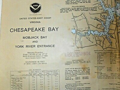 NOAA Chart - # 12238 - Chesapeake Bay - Mobjack Bay & York River Entrance