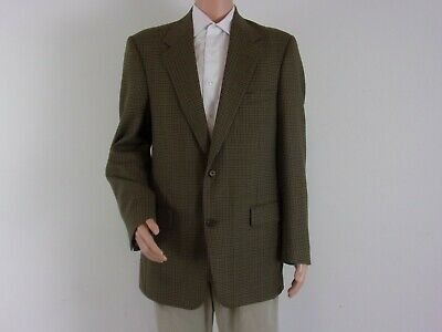 Claiborne 100% WORSTED WOOL Sport Coat   SIZE: 42L    BROWN Houndstooth