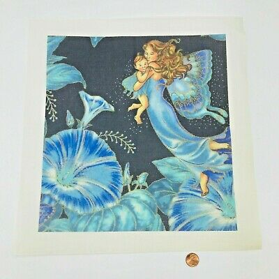 Needlepoint Pattern Canvas Butterfly Mother Baby Whimsy Mystical Fairy Nursery