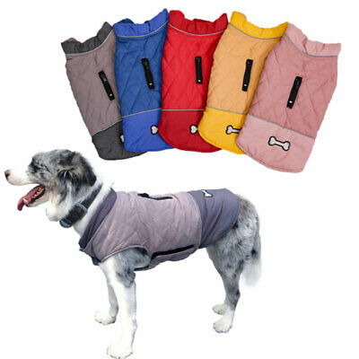 Puppy Dog Coat Harness Jacket Winter Waterproof waistcoat Pet Clothing Vest Pug