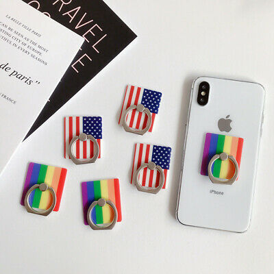 Universal 360 Rotating Finger Ring Stand Holder For All Cell Phones - Flags