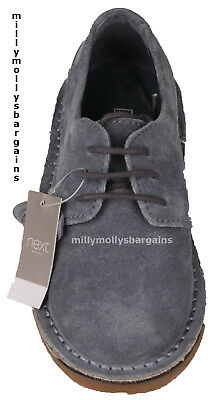 New Boys Blue Suede Leather NEXT Shoes Size 9 Infant 12 13 Kids 3 5 6
