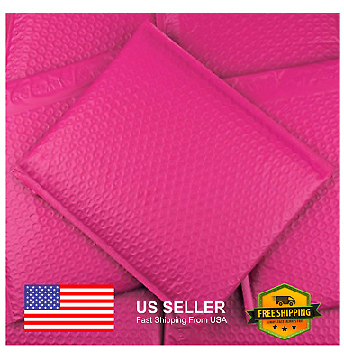 6x10 SIZE POLY BUBBLE MAILERS SHIPPING MAILING PADDED BAGS ENVELOPES HOT PINK