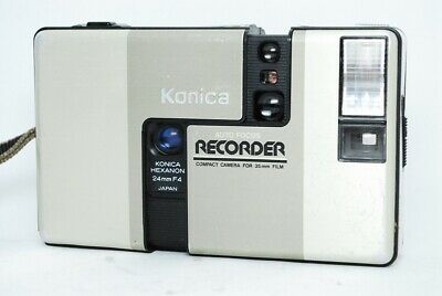 【EXC+++++】Konica RECORDER Half Frame 35mm Film Camera Point & Shoot from JAPAN
