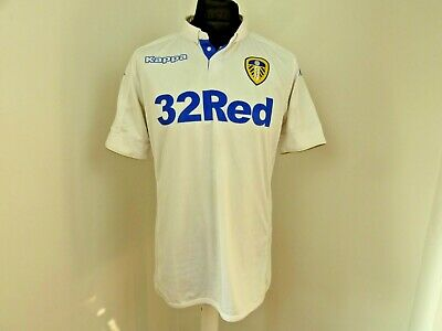 LEEDS UNITED SHIRT home soccer jersey kappa Size UK Large
