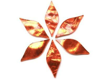 Orange Regalia Mirror Petals - Mosaic Tiles Supplies Art Craft