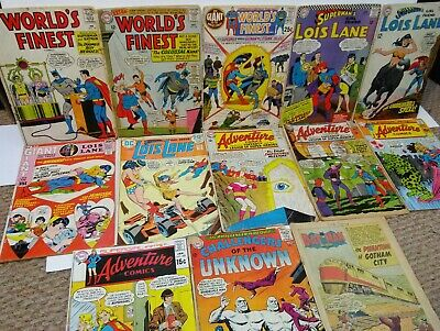 Silver Age Comic Book Lot Adventure Comics Worlds Finest Lois Lane Dc Readers