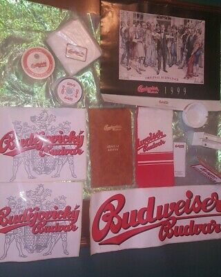 Lot of Assorted Budweiser beer Bar related items.