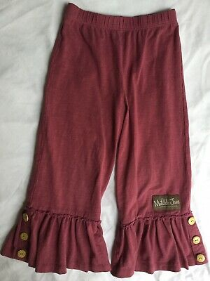 Matilda Jane Once Upon a Time Storyteller Big Ruffles Pant w/Tag & Button, EUC 4