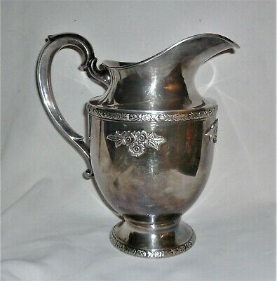"VINTAGE FISHER SILVER PLATED WATER PITCHER #K227 ""The Sterling Silver Look"""