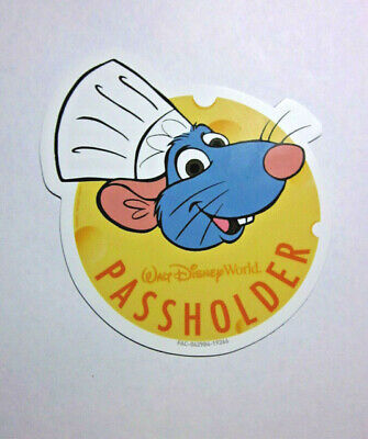 2019 Disney World Annual Passholder CHEF REMY RATATOUILLE Epcot Food Wine Magnet