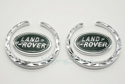 1Pair Metal Car Side Emblem Badge Sticker Logo Accessories Fits for Land Rover