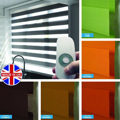 Premium Made to Measure Motorised Day and Night Vision/Zebra Window Roller Blind